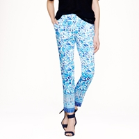 J.Crew Collection Cropped Pant In Wildflower Print