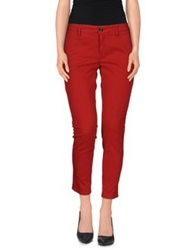Department 5 Casual Pants Red