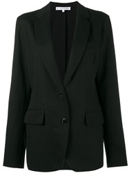 Alexander Terekhov Single Breasted Jacket Women Cotton Linen Flax Cupro Tencel 38 Black