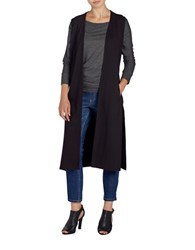 Jag Sleeveless Long Cardigan Black