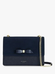 Ted Baker Olisssa Leather Cross Body Bag Dark Blue