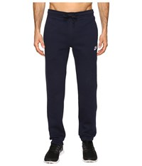 Nike Club Fleece Cuffed Pant Obsidian White Men's Workout Black