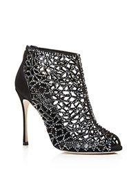 Sergio Rossi Tresor Open Toe High Heel Booties
