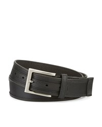 Neiman Marcus Leather Trim Nylon Belt Black