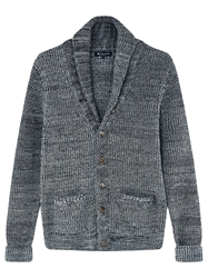 Aquascutum London Aquascutum Dunn Heavy Knit Cardigan Grey