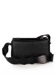 F.E.V. Time Square Leather Cross Body Bag Black