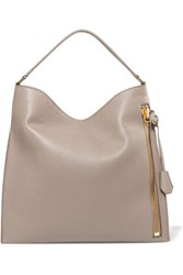 Tom Ford Alix Large Textured Leather Tote Taupe