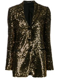 Tagliatore Sequinned Blazer Black