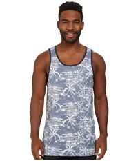 Rip Curl Larry Tank Top Blue Grey Men's Sleeveless