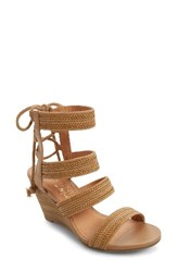 Matisse Women's Whimsy Wedge Sandal Tan Leather