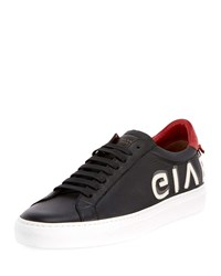 Givenchy Urban Street Logo Letter Low Top Sneakers Black Red