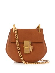 Chloe Drew Mini Leather Cross Body Bag Tan