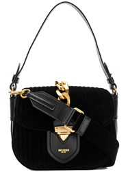Moschino Chain Trim Handbag Black