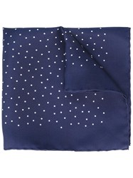 Lanvin Dot Panel Pocket Handkerchief Blue