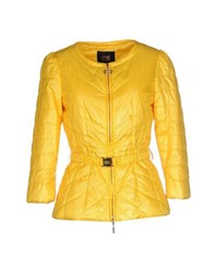 Class Roberto Cavalli Coats And Jackets Jackets Women Yellow