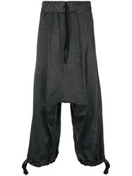 Lost And Found Ria Dunn Dropped Crotch Trousers Black