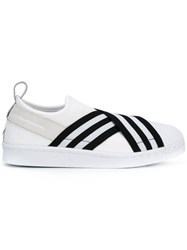 Adidas By White Mountaineering Superstar Slip On Sneakers Women Nylon Nubuck Leather Rubber 7 White
