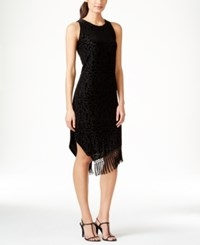 Styleandco. Style And Co. Flocked Asymmetrical Fringe Dress Only At Macy's