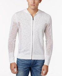 Inc International Concepts Men's Lightweight Hoodie Only At Macy's White Pure