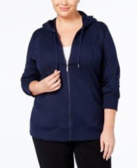 Style And Co Plus Size Hoodie Created For Macy's Industrial Blue