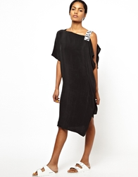 Ann Sofie Back Back By Ann Sofie Back Elastic Dress With One Shoulder Drape