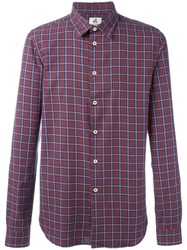 Paul Smith Ps By Plaid Shirt Red