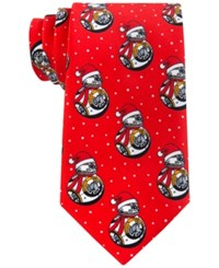 Star Wars Men's Bb 8 Snow Man Tie Red