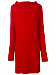 Norma Kamali All In One Dress Red
