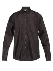 Vetements Skull Print Satin Shirt Black