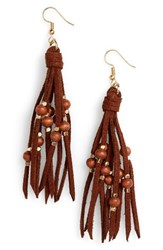 Panacea Women's Suede Fringe Earrings