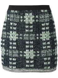 20 52 Fitted Checked Skirt Black