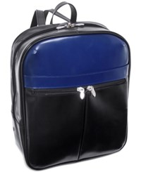 Mcklein Edison 20 Leather Laptop Backpack Black Navy