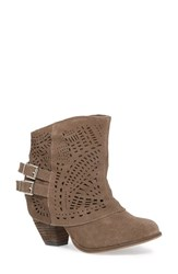 Women's Naughty Monkey 'Love Story' Cutout Bootie Taupe