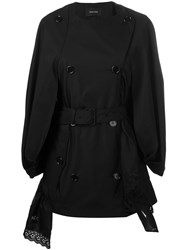 Simone Rocha Double Breasted Loose Fit Coat Black