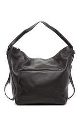 Christopher Kon Crossbody Leather Hobo Black
