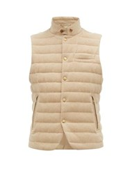 Ralph Lauren Purple Label Whitewell Quilted Wool Gilet Cream