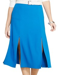 Lauren Ralph Lauren Plus Crepe A Line Skirt Atmosphere Blue