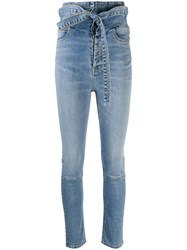 Unravel Project Ultra High Waisted Skinny Jeans Blue
