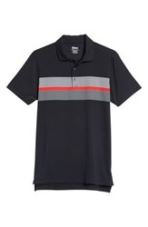 Bobby Jones R18 Tech Daytona Stripe Golf Polo Black