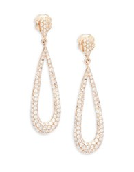 Bh Multi Color Corp. Diamond And 14K Rose Gold Tear Drop Earrings