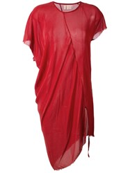 Lost And Found Ria Dunn Draped T Shirt Dress Red