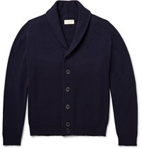 John Smedley Patterson Shawl Collar Merino Wool And Cashmere Blend Cardigan Midnight Blue