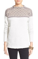 Women's Free People 'Snow Bunny' Pullover Grey Combo