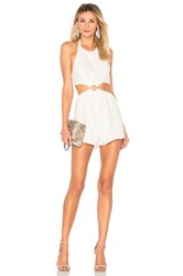 By The Way Eliana O Ring Cut Out Romper White