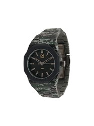D1 Milano Polycarbon Camo 40.5Mm Watch Green
