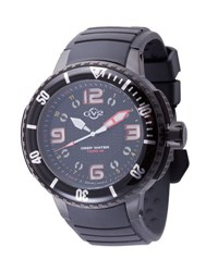 Gv2 Men's Termoclino Stainless Steel Diver Watch W Rubber Strap Black