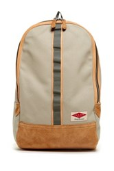 Rag And Bone Derby Leather Trim Backpack Beige