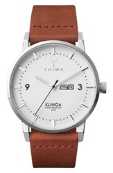 Triwa Snow Klinga Leather Strap Watch 38Mm