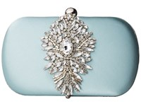 Badgley Mischka Aurora Blue Radiance Clutch Handbags