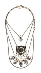 Juliet And Company Paloma Tiered Necklace Gold Clear